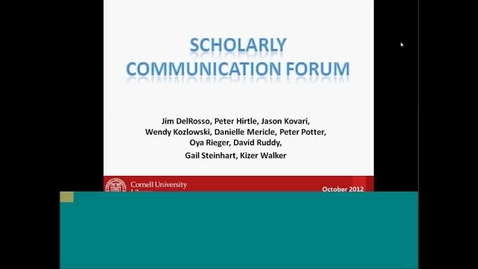 Thumbnail for entry Scholarly Communications