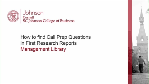 Thumbnail for entry How to find Call Prep Questions.mp4