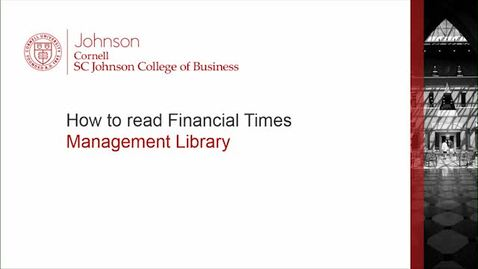 Thumbnail for entry How to read Financial Times