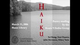 Thumbnail for entry Poetry Reading by Route 9 Haiku Group