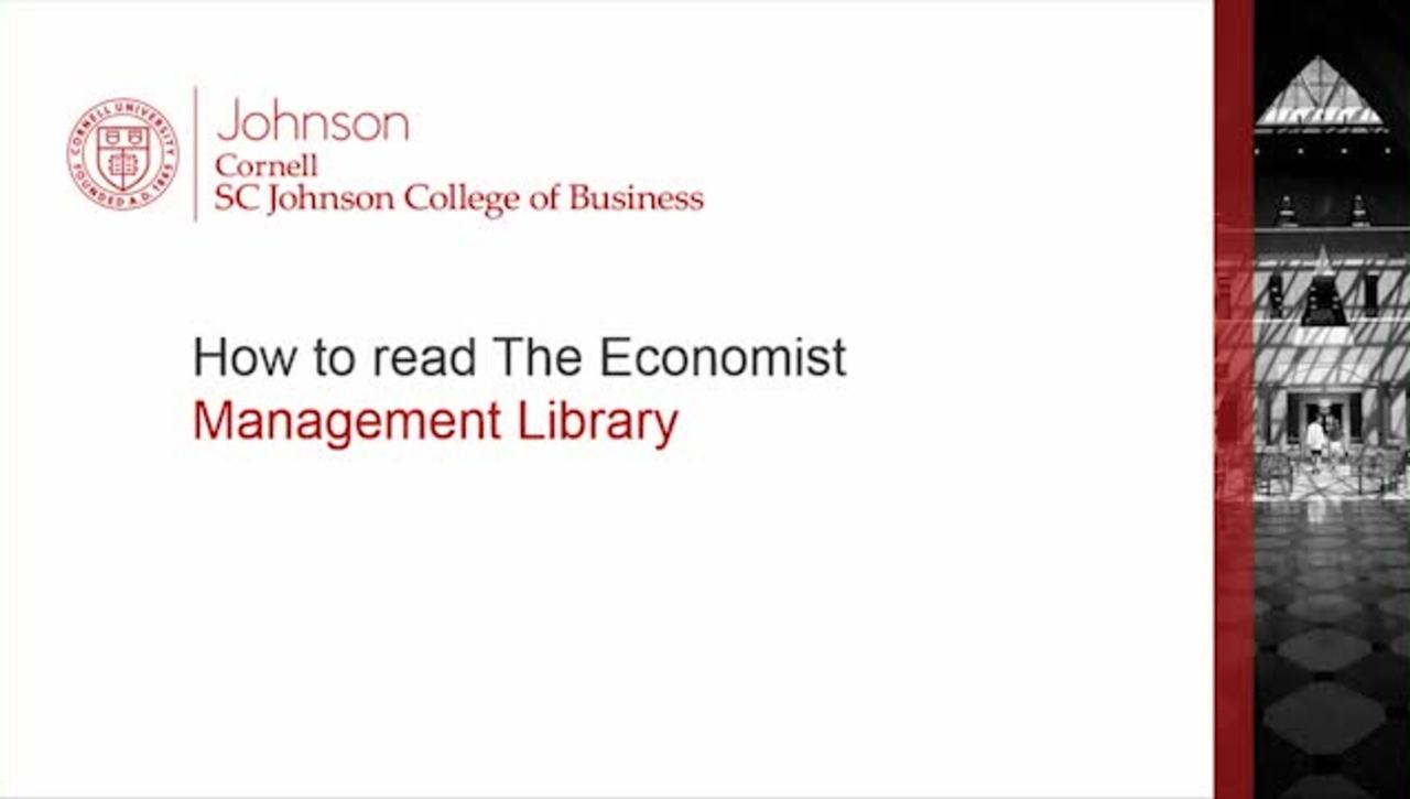 How to read The Economist