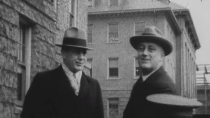 Franklin and Eleanor Roosevelt visit Cornell