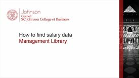 Thumbnail for entry How to find salary data