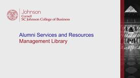 Thumbnail for entry Alumni Management Library 2018.mp4