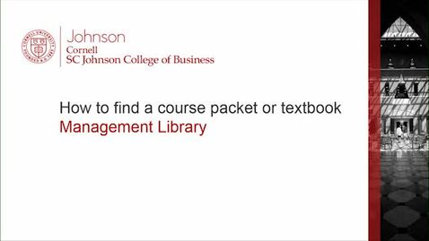 Thumbnail for entry How to find a course packet or textbook