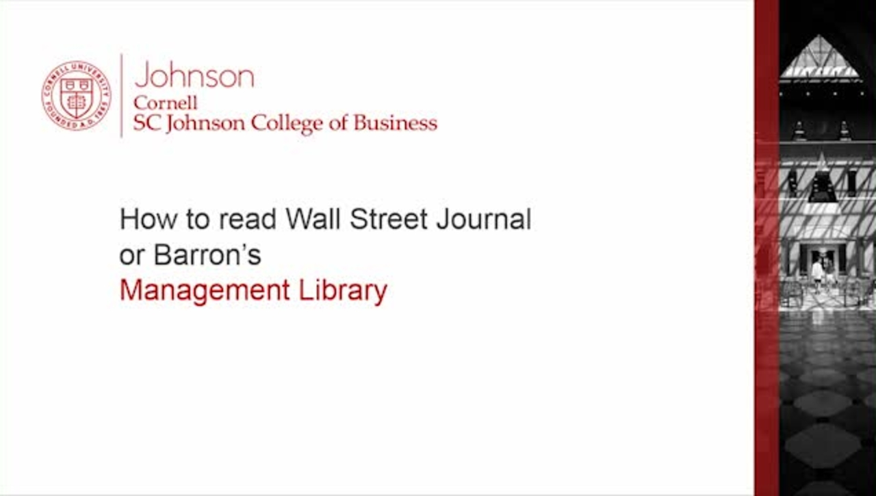 How to read WSJ or Barrons