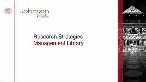 Thumbnail for entry Research Strategies