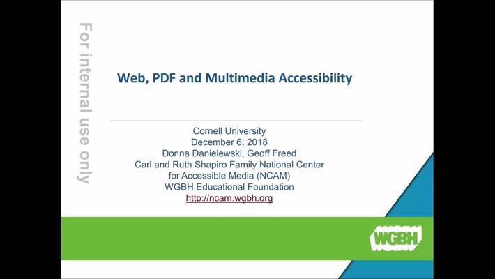 National Center for Accessible Media Forum Cornell Library.mp4