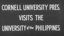 Thumbnail for entry Cornell University President Visits the University of the Philippines