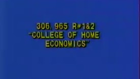Thumbnail for entry A College of Home Economics