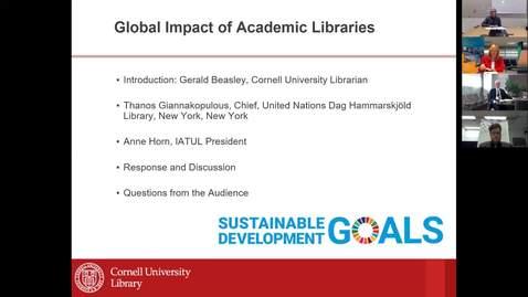 Global Impact of Academic Libraries Webinar 25 October 2019