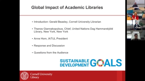 Thumbnail for entry Global Impact of Academic Libraries Webinar 25 October 2019