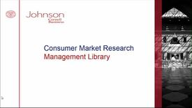 Thumbnail for entry Consumer Market Research
