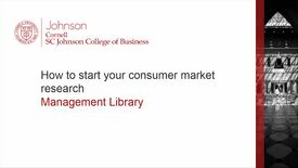 Thumbnail for entry How to start your consumer market research
