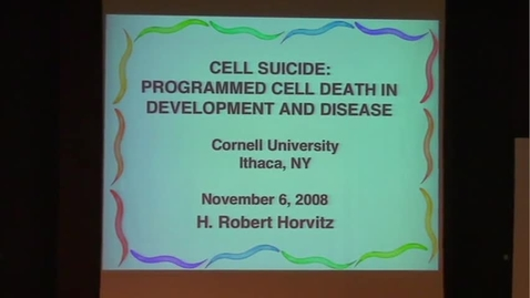 Thumbnail for entry Cell Suicide: Programmed Cell Death in Development and Disease