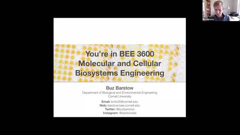 Thumbnail for entry BEE 3600 Lecture 19 Video