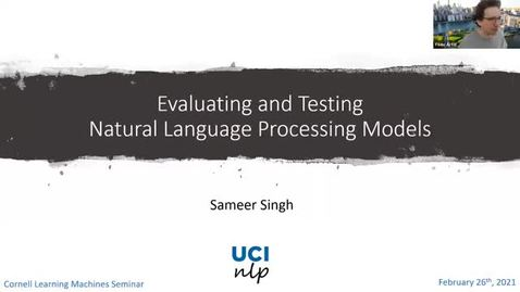 Thumbnail for entry 2.26.21 Sameer Singh, University of California, Irvine
