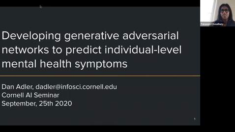 Thumbnail for entry 9.25.2020 AI Seminar - Fall 2020 Dan Adler, Cornell University