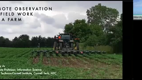 Thumbnail for entry CIDA seminar - Wendy Ju: Remote observation of farm vehicle interaction