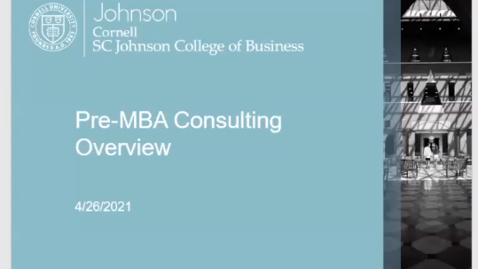 Thumbnail for entry Pre-MBA Consulting Overview
