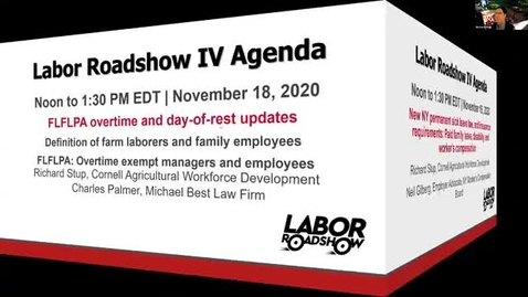 Thumbnail for entry Labor Roadshow IV: November 18, 19, 20, 23, 24, 2020