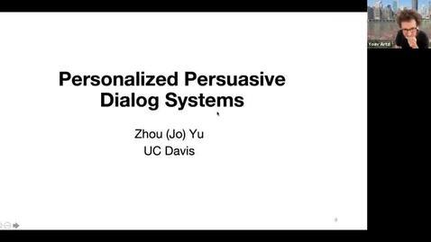 Thumbnail for entry 9/18 AI Seminar - Fall 2020: Zhou Yu, University of California, Davis