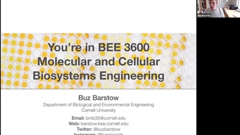 Thumbnail for entry BEE 3600 Lecture 26 Video