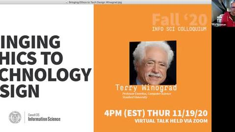 Thumbnail for entry Cornell IS Colloquium with Terry Winograd