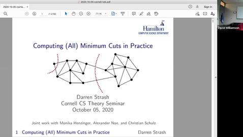 Thumbnail for entry Theory Seminar - Fall 2020: Darren Strash, Hamilton College