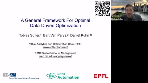 Thumbnail for entry ORIE Colloquium: Daniel Kuhn (College of Management of Technology at EPFL), March 23, 2021