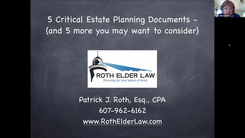 Thumbnail for entry Five Critical Estate Planning Documents