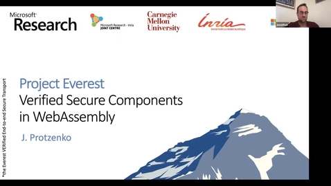 Thumbnail for entry SOIL Seminar: Project Everest: Verified Secure Compenents in WebAssembly