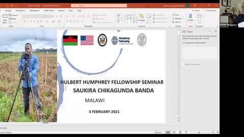 Thumbnail for entry Humphrey Fellows Seminars- Natalya and Saukira