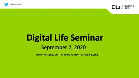 Thumbnail for entry Digital Life Seminar | Fall Introduction