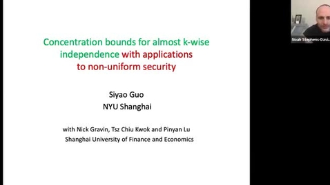 Thumbnail for entry 12.14.20 Siyao Guo, New York University, Shanghai
