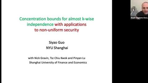Thumbnail for entry 12.14.20 Siyao Guo, New York University, Shanghai