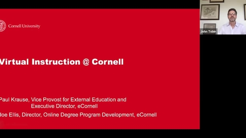 Thumbnail for entry Virtual Instruction @ Cornell