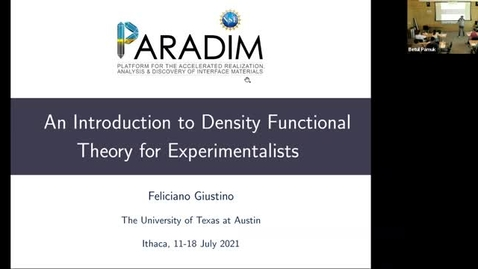 Thumbnail for entry PARADIM DFT Summer School 2021 Lecture 3.1 - Equilibrium Structures