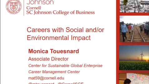 Thumbnail for entry Careers with Social and/or Environmental Impact