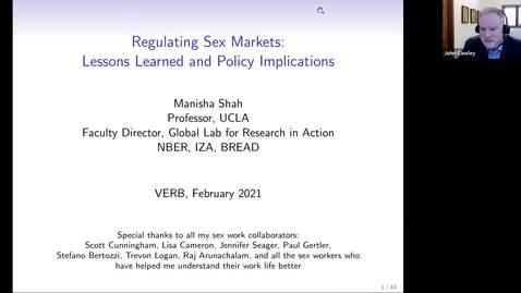 Thumbnail for entry VERB seminar with Professor Manisha Shah