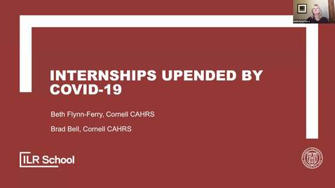 Thumbnail for entry Internships Upended by COVID-19 CAHRScast