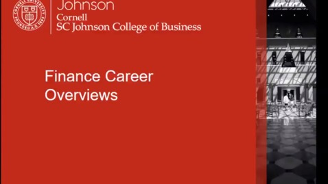 Thumbnail for entry Finance Career Overviews