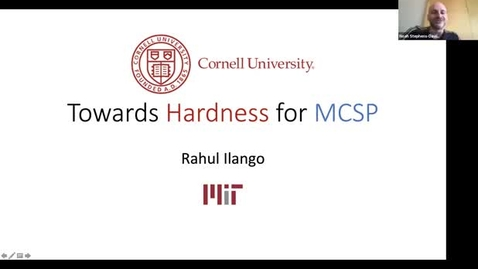 Thumbnail for entry 4.19.21 Rahul Ilango, Massachusetts Institute of Technology