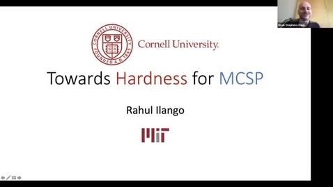 Thumbnail for entry 4.19.21 Rahul Ilango, Massachusetts Institute of Technology