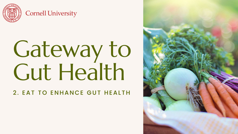 Thumbnail for entry Gateway to Gut Health #2: Eat to enhance gut health