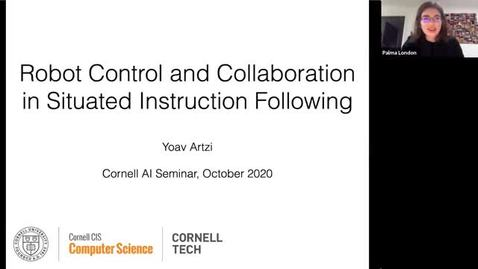 Thumbnail for entry 10.16.20 AI Seminar - Fall 2020 Yoav Artzi, Cornell University