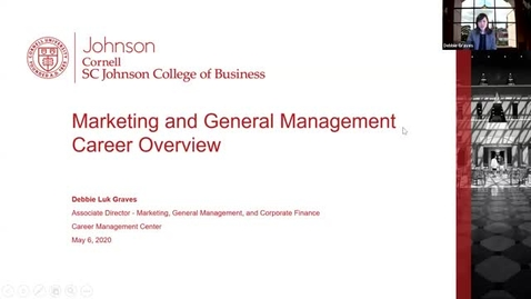 Thumbnail for entry Marketing and General Management Career Overview