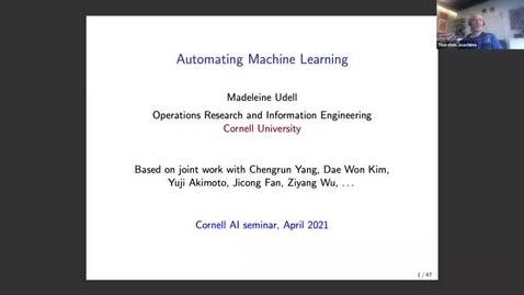Thumbnail for entry 4.16.21 Madeleine Udell, Cornell University