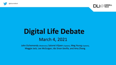 Thumbnail for entry Digital Life Seminar | Debate