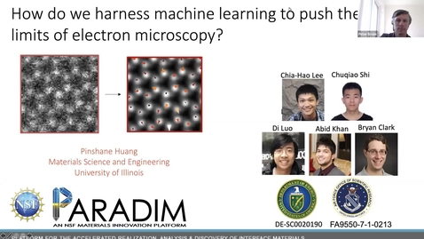 Thumbnail for entry PARADIM  Electron Microscopy Summer School Public Lectures 2021 -Harnessing Machine Learning